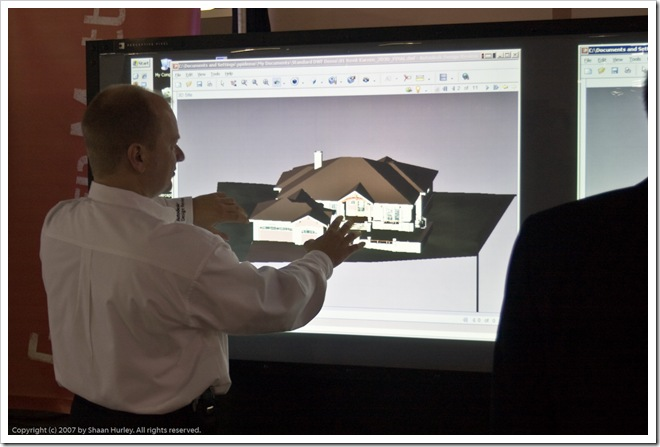 Volker Joseph and Autodesk Design Review on Touchwall from Autodesk Labs